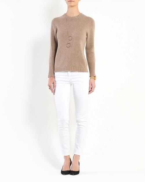 Women's Pure Cashmere Crew Neck Sweater