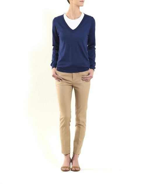 Women's Silk Cashmere V-Neck Sweater
