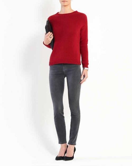 Ladies' Chunky Cashmere Boat Neck