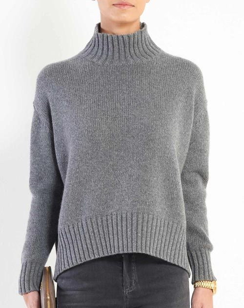 Ladies' Chunky Cashmere Polo Neck