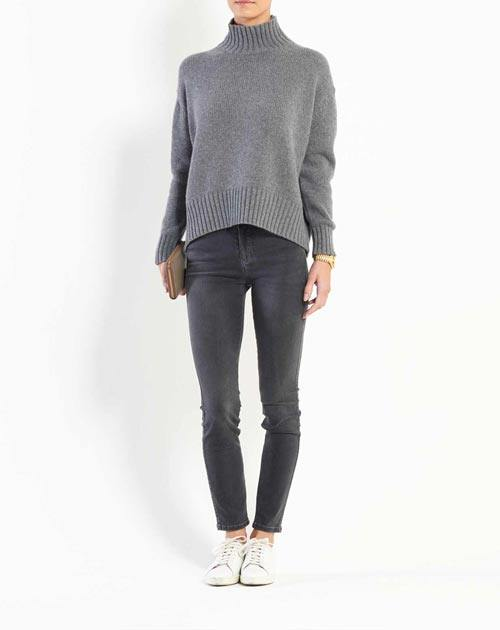 Women's Chunky Cashmere Turtleneck