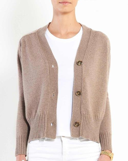 Women's Cashmere 3-Button Cardigan