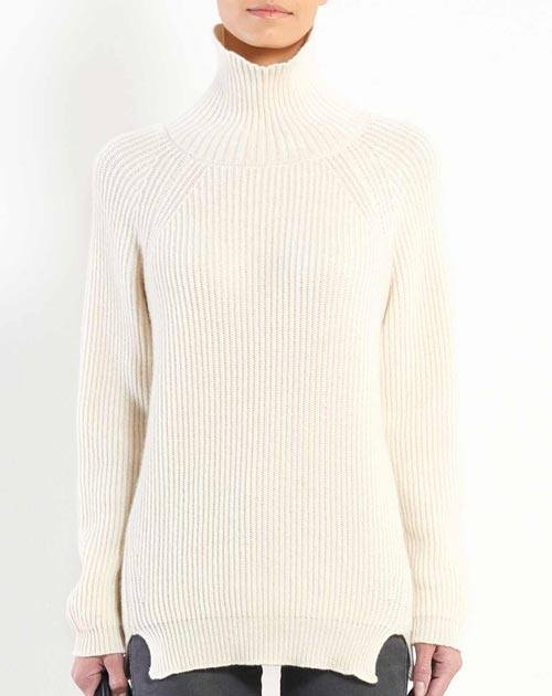 Ladies' Pure Cashmere Maxi Polo Neck