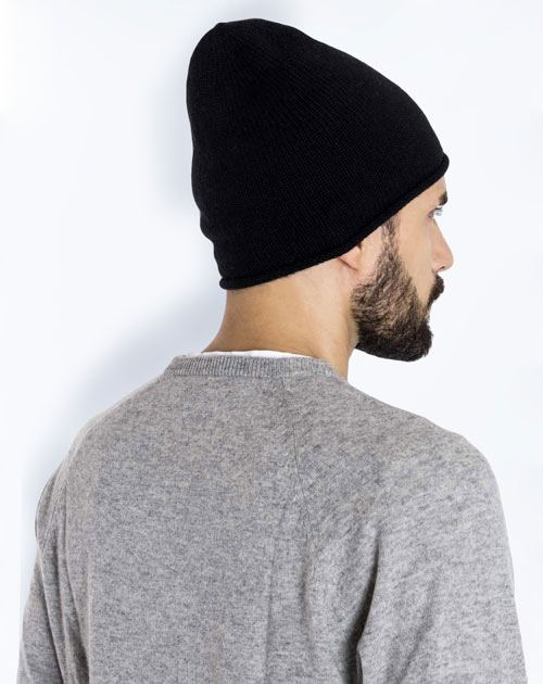 Pure Cashmere Beanie Hat