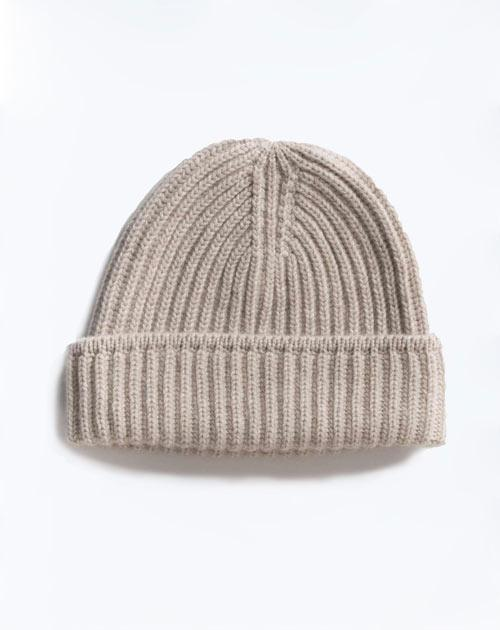 Pure Cashmere Fisherman's Rib Hat