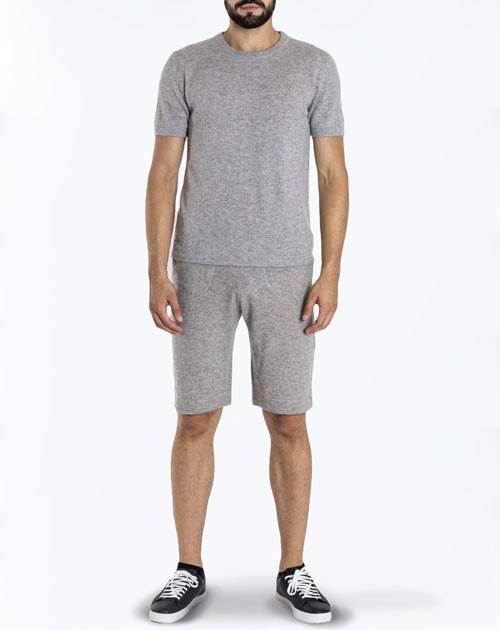 Kurzarm Shirt aus 100% Cashmere für Herren