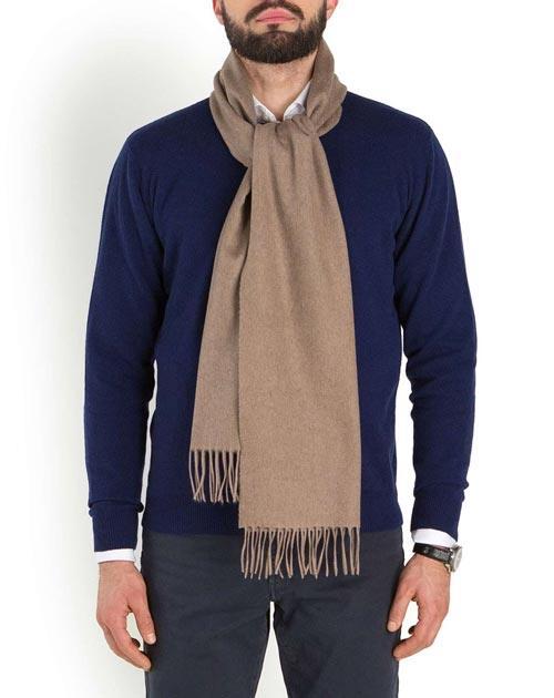 Men's Woven Pure Cashmere Scarf