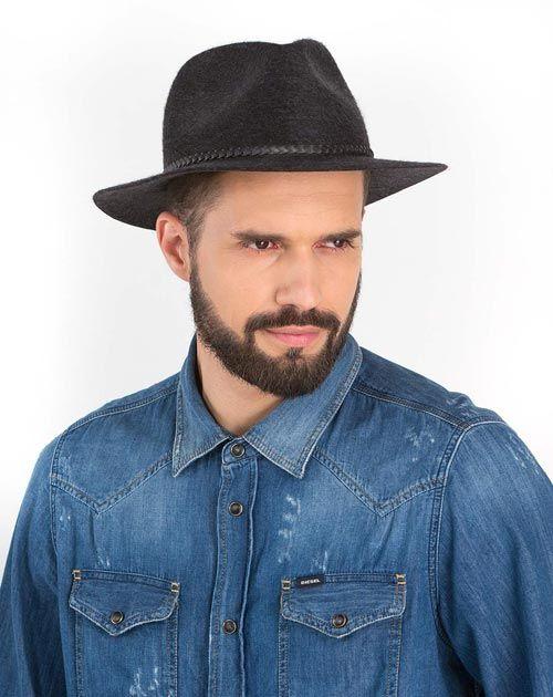 Men's Pure Cashmere Flat Brim Fedora