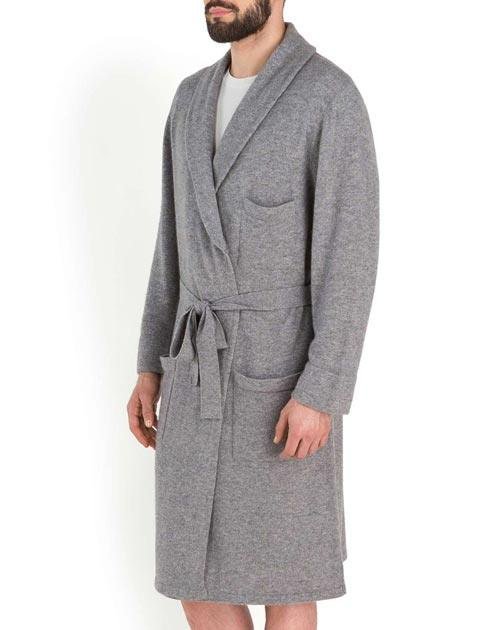 Men's Pure Cashmere Knit Robe