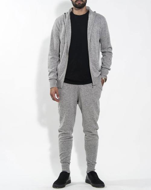 Men's Weekend Set - Cashmere Zip Hoodie & Pants
