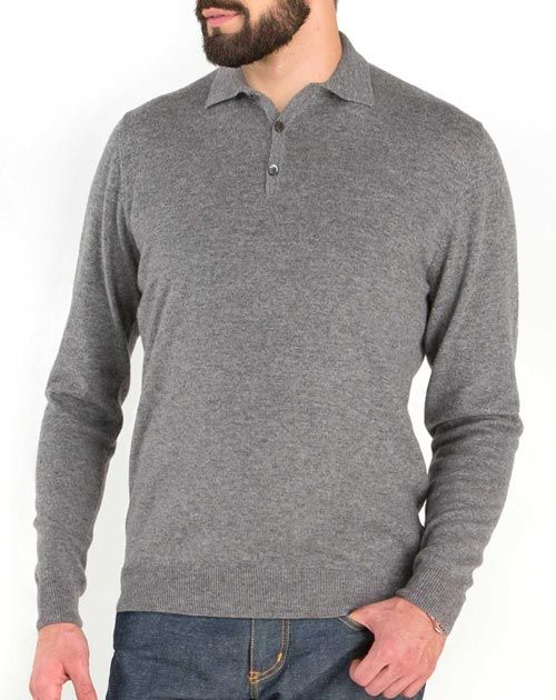 Men's Pure Cashmere Polo Shirt