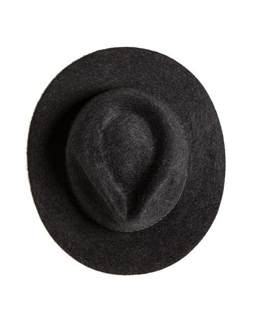 Cappello Uomo Fedora Tesa Piatta in Cashmere