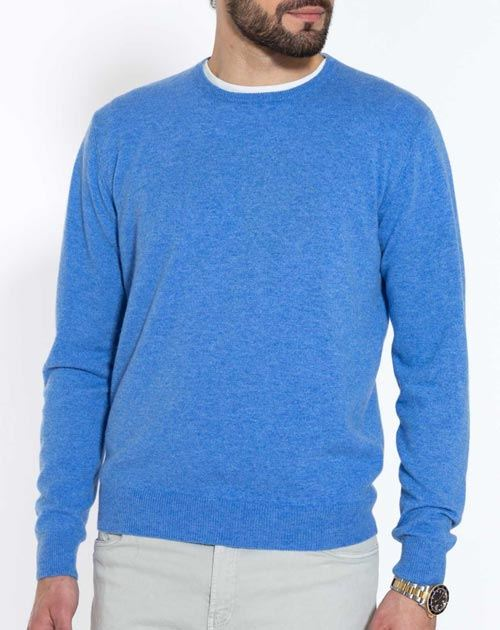 Men's Pure Cashmere Crew Neck Sweater
