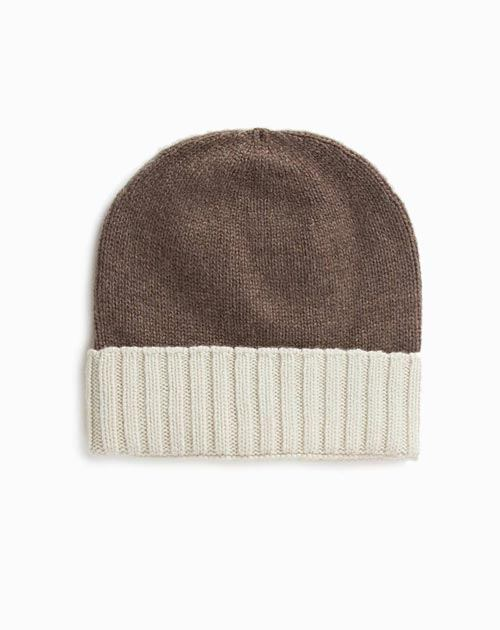 Men's Pure Cashmere Bicolour Cap