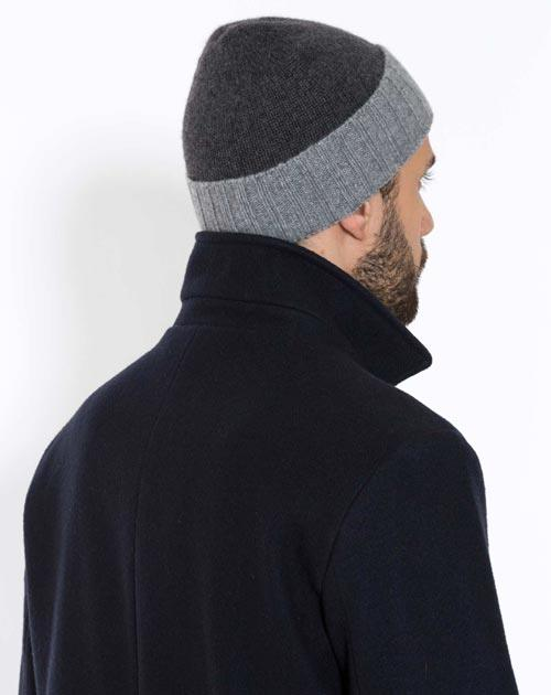 Men's Pure Cashmere Bicolor Cap