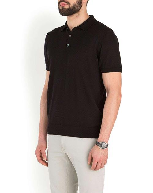 Men's Silk Cashmere Short Sleeve Polo Shirt