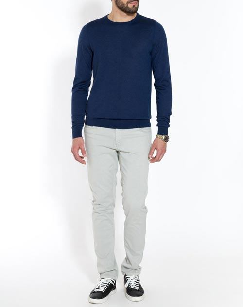 Men's Silk Cashmere Crew Neck Jumper