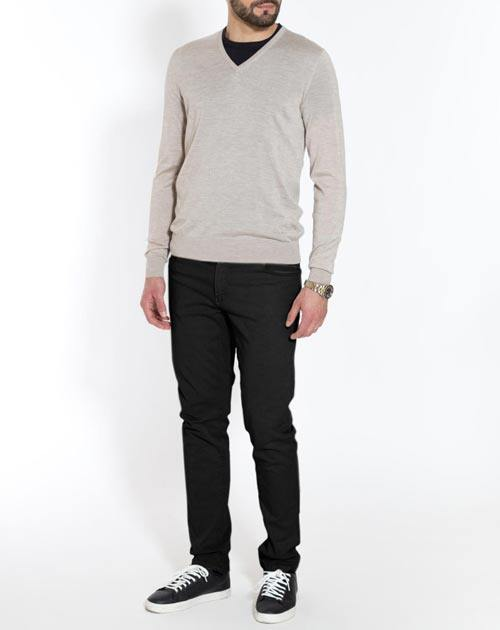 Men's Silk Cashmere V-Neck Jumper