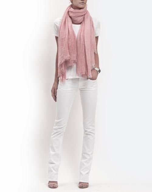 Batik Pashmina - Pfirsich