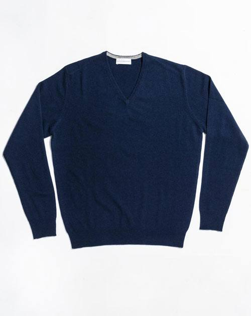 Men's Cashmere Plus Size - V-Neck