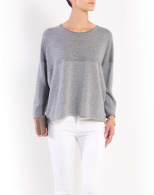 Cashmere Lurex Batwing Sleeve Sweater