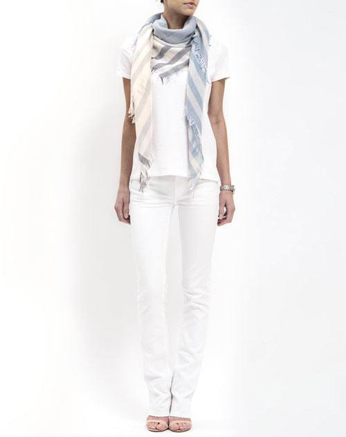 Striped Foulard - Sky Blue