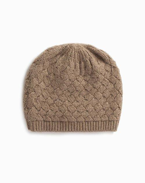 Ladies' Pure Cashmere Basket Weave Cap