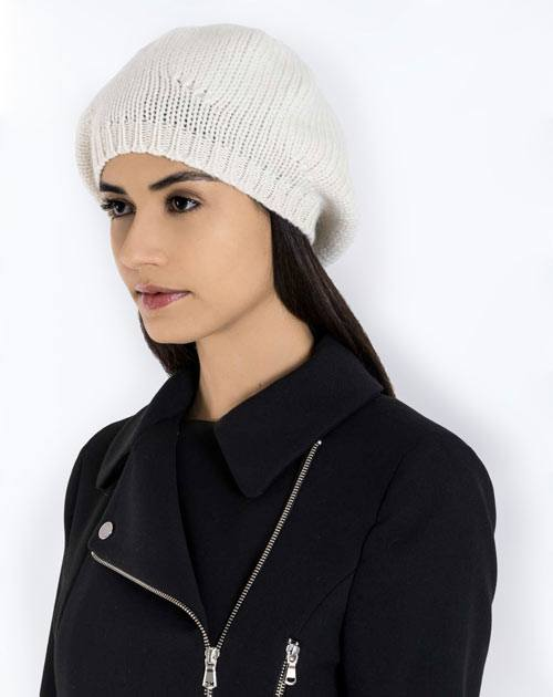 Cappello Basco in Puro Cashmere