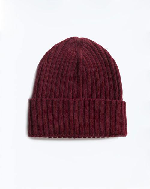 Pure Cashmere Ribbed Hat