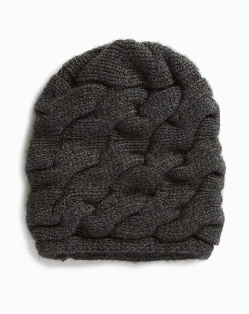 Women's Chunky Braided Cable Knit Beanie