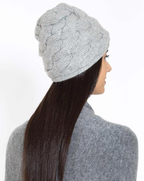 Cappello Donna Trecce Incrociate in Cashmere