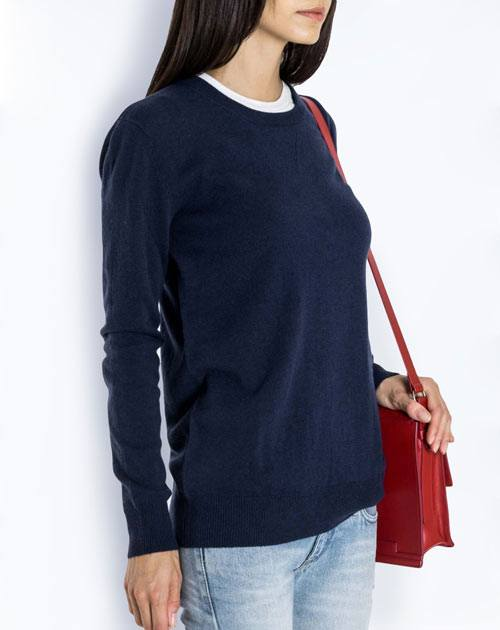 Ladies' Oversized Pure Cashmere Crew Neck