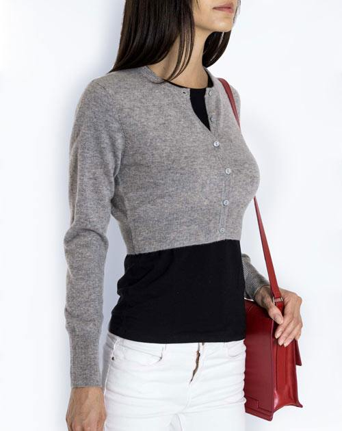 Women's Pure Cashmere Cropped Cardigan