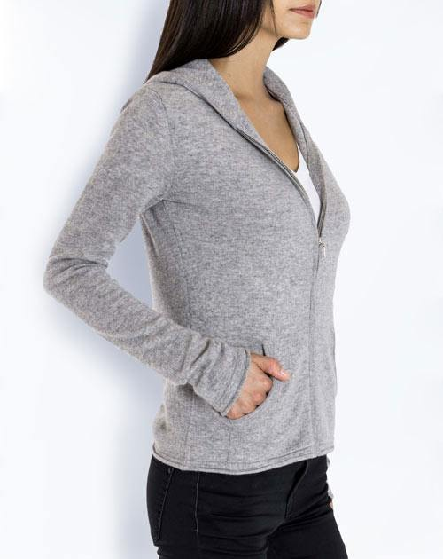 Women's Pure Cashmere Hoodie Sweater