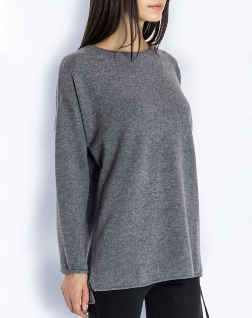 Ladies' Pure Cashmere Maxi Crew Neck