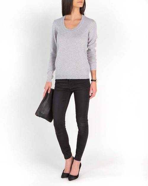 Ladies' Ultralight Cashmere Scoop Neck
