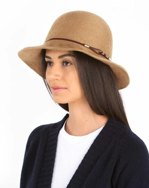 Ladies' Pure Cashmere Cloche Hat