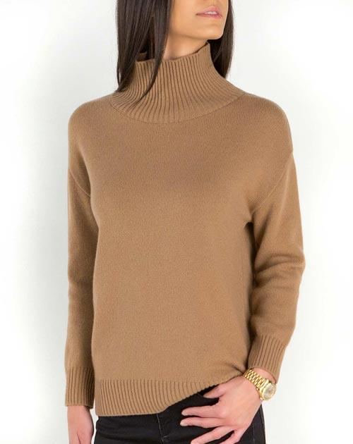 Women's Lambswool & Cashmere Funnel Neck Sweater