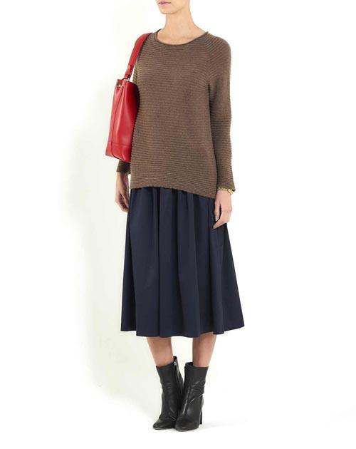 Ladies' Cashmere Rib Boat Neck Jumper