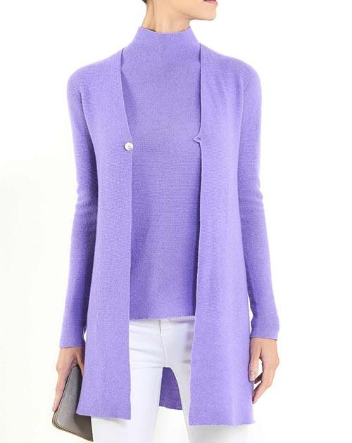 Women's Cashmere Links Stitch Duster Cardigan