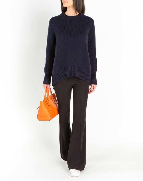 Ladies' Lambswool & Cashmere Maxi Crew Neck