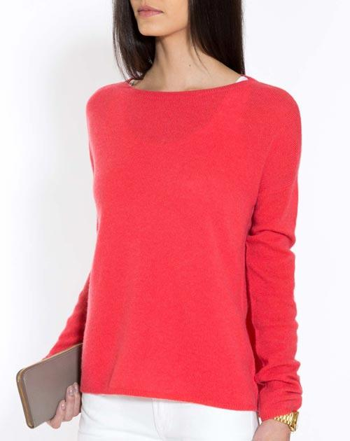 Ladies Oversized Cashmere Boat Neck Jumper