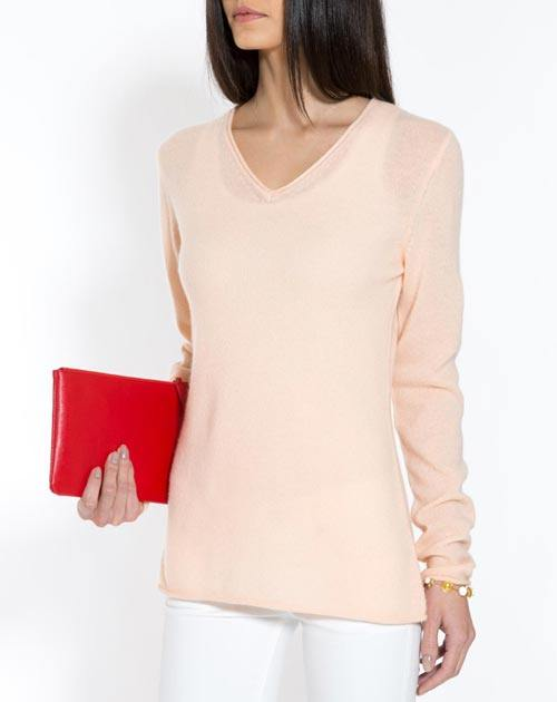 Ladies' Oversized Cashmere V-Neck Jumper