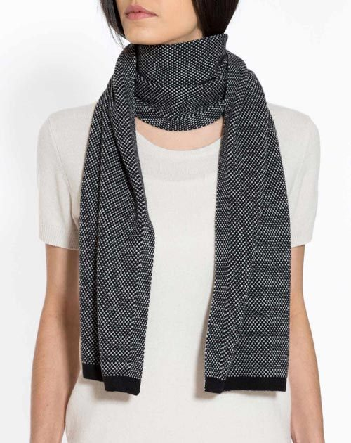 Ladies' Pure Cashmere Puppytooth Scarf