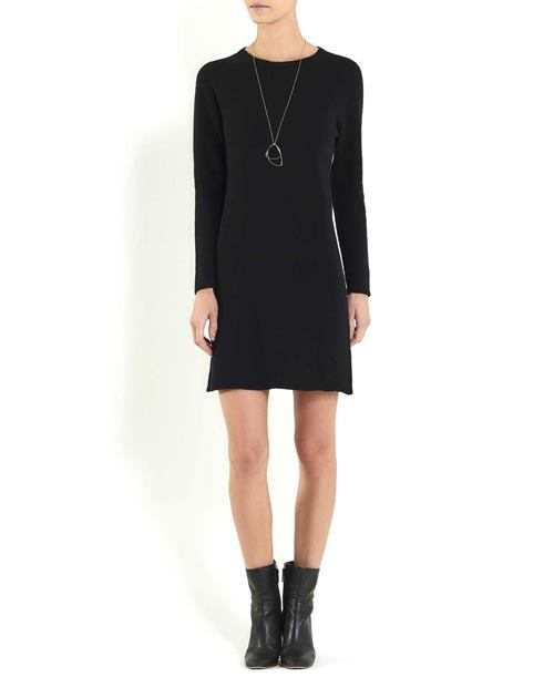 Women's Pure Cashmere Crew Neck Dress