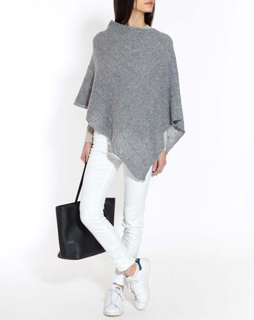 Pure Cashmere Cable Knit Poncho