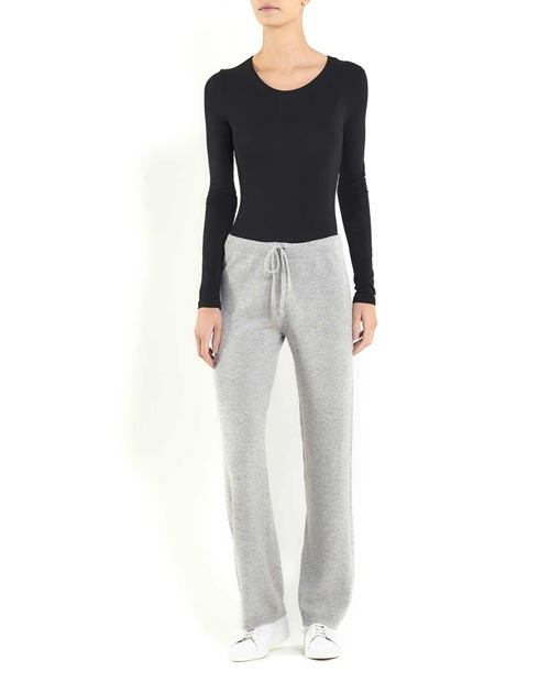 Ladies' Pure Cashmere Wide Leg Trousers