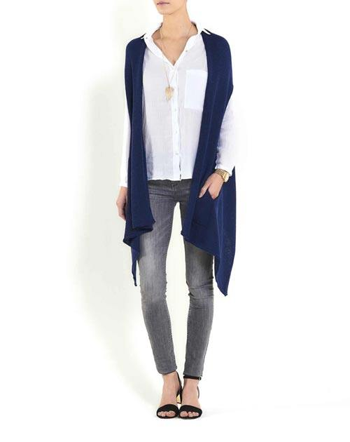 Ladies' Pure Cashmere Scarf Vest
