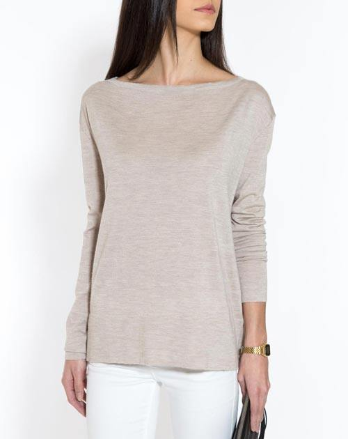 Ladies' Silk Cashmere Boat Neck Jumper