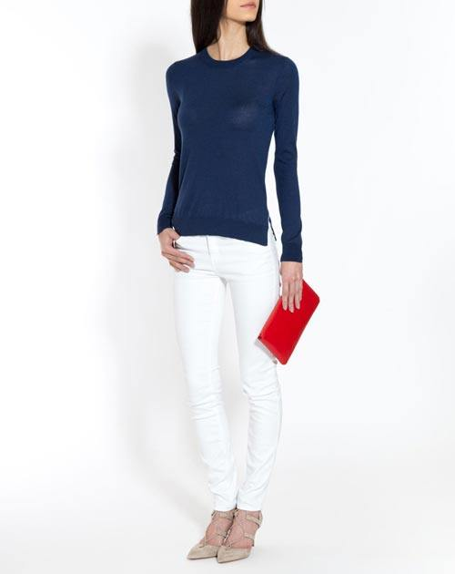 Women's Silk Cashmere Crew Neck Sweater